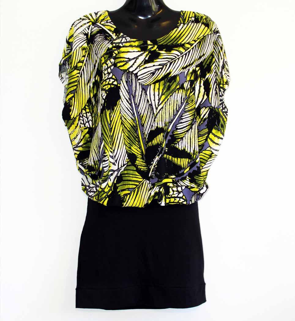 Klänning - Lime & black velvet